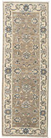Ziegler Ariana Rug 58X182 Authentic  Oriental Handknotted Hallway Runner  Light Grey/Dark Beige (Wool, Afghanistan)