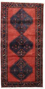 Hamadan Teppich  100X201 Echter Orientalischer Handgeknüpfter Dunkelrot/Schwartz (Wolle, Persien/Iran)