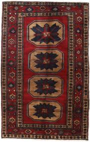 Hamadan Rug 122X190 Authentic  Oriental Handknotted Dark Red/Black/Brown (Wool, Persia/Iran)