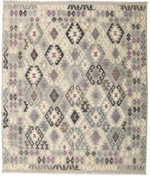 Kelim Afghan Old Style Tæppe 203X237 Ægte Orientalsk Håndvævet Lysegrå/Beige (Uld, Afghanistan)