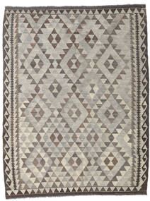 Kilim Afghan Old Style Rug 151X195 Authentic  Oriental Handwoven Light Grey/Dark Brown (Wool, Afghanistan)
