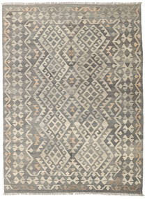 Kilim Afghan Old Style Rug 145X197 Authentic  Oriental Handwoven Light Grey/Dark Grey (Wool, Afghanistan)