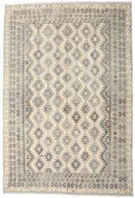 Kilim Afghan Old Style Rug 200X297 Authentic  Oriental Handwoven Light Grey/Beige (Wool, Afghanistan)