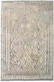Kilim Afghan Old Style Rug 197X300 Authentic  Oriental Handwoven Light Grey/Dark Beige (Wool, Afghanistan)