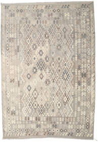 Kilim Afghan Old Style Rug 209X301 Authentic  Oriental Handwoven Light Grey/Beige (Wool, Afghanistan)