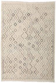 Kilim Afghan Old Style Rug 202X294 Authentic  Oriental Handwoven Light Grey/Beige (Wool, Afghanistan)