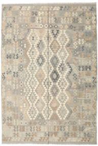 Kilim Afghan Old Style Rug 202X295 Authentic  Oriental Handwoven Light Grey/Beige (Wool, Afghanistan)