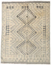 Kilim Afghan Old Style Rug 136X167 Authentic  Oriental Handwoven Light Grey/Beige (Wool, Afghanistan)