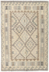 Kilim Afghan Old Style Rug 127X184 Authentic  Oriental Handwoven Light Grey/Beige (Wool, Afghanistan)