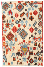 Moroccan Berber - Afganistan Rug 184X294 Authentic  Modern Handknotted Beige/Crimson Red (Wool, Afghanistan)