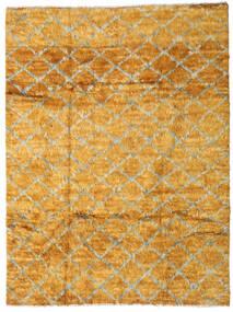 Moroccan Berber - Afganistan 絨毯 201X266 モダン 手織り 薄茶色/オレンジ (ウール, アフガニスタン)