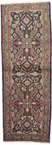 Mehraban Teppich  73X205 Echter Orientalischer Handgeknüpfter Läufer Dunkelgrau/Dunkelrot (Wolle, Persien/Iran)