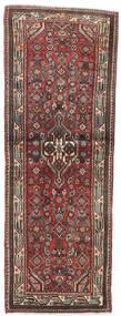 Hosseinabad Teppich  75X210 Echter Orientalischer Handgeknüpfter Läufer Dunkelrot/Dunkelbraun (Wolle, Persien/Iran)