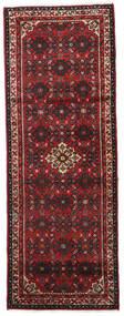 Hosseinabad Teppich  75X205 Echter Orientalischer Handgeknüpfter Läufer Dunkelrot/Schwartz (Wolle, Persien/Iran)