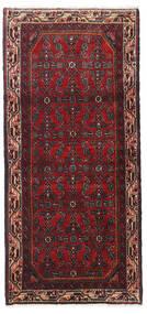 Hosseinabad Tappeto 68X149 Orientale Fatto A Mano Alfombra Pasillo Rosso Scuro/Nero (Lana, Persia/Iran)