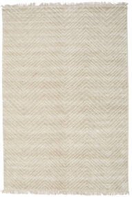 Vanice - Beige Rug 140X200 Authentic  Modern Handknotted Dark Beige/Light Grey ( India)