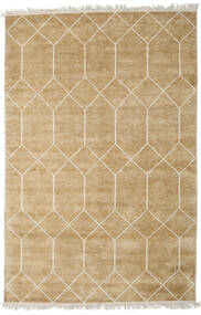 Kiara - Gold Rug 140X200 Authentic  Modern Handknotted Dark Beige/Light Brown ( India)
