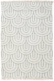 Vanya - Sand/Black Rug 200X300 Authentic  Modern Handknotted Light Grey/Beige ( India)