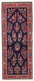 Sarough Matto 80X200 Itämainen Käsinsolmittu Käytävämatto Tummanvioletti/Tummanpunainen (Villa, Persia/Iran)