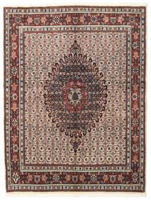 Moud Dywan 148X195 Orientalny Tkany Ręcznie Jasnoszary/Ciemnobrązowy (Wełna/Jedwab, Persja/Iran)