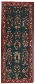 Ghom Kork/De Seda Alfombra 82X206 Oriental Hecha A Mano Verde Oscuro/Rojo Oscuro (Lana/Seda, Persia/Irán)