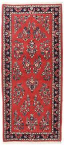Yazd Rug 82X185 Authentic  Oriental Handknotted Hallway Runner  Rust Red/Dark Purple (Wool, Persia/Iran)