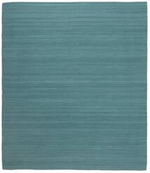 Ćilim Loom - Tamno Plava Sag 250X300 Autentični  Moderni Ručno Tkani Tirkizno Plava Veliki (Vuna, Indija)