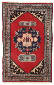 Hamadan Teppe 80X125 Ekte Orientalsk Håndknyttet Mørk Rød/Mørk Brun/Rød (Ull, Persia/Iran)
