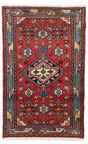 Hamadan Dywan 69X109 Orientalny Tkany Ręcznie Rdzawy/Czerwony/Ciemnobrązowy/Czarny (Wełna, Persja/Iran)