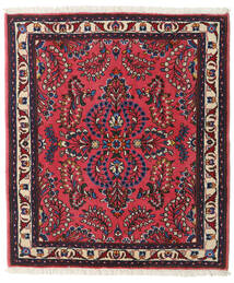 Sarouk Rug 98X113 Authentic  Oriental Handknotted Black/Dark Red (Wool, Persia/Iran)