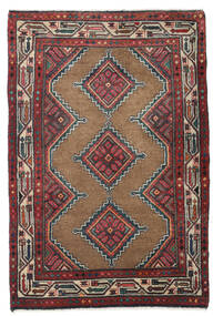 Koliai Vloerkleed 85X128 Echt Oosters Handgeknoopt Donkerrood/Donkerbruin (Wol, Perzië/Iran)