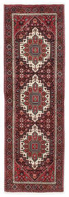 Gholtogh Rug 60X187 Authentic  Oriental Handknotted Hallway Runner  Dark Red/White/Creme (Wool, Persia/Iran)