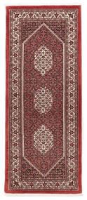 Bidżar Z Dodatkiem Jedwabiu Dywan 75X190 Orientalny Tkany Ręcznie Chodnik Ciemnoczerwony/Biały/Creme (Wełna/Jedwab, Persja/Iran)