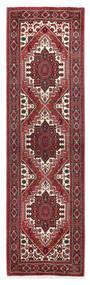 Gholtogh Rug 61X210 Authentic  Oriental Handknotted Hallway Runner  Dark Red/Dark Brown (Wool, Persia/Iran)