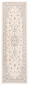 Nain 9La Matto 80X245 Itämainen Käsinsolmittu Käytävämatto Beige/Vaaleanharmaa (Villa/Silkki, Persia/Iran)