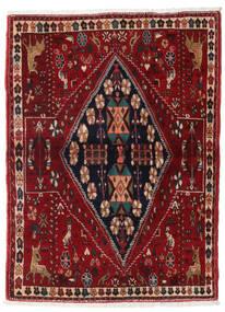 Ghashghai Tæppe 110X153 Ægte Orientalsk Håndknyttet Mørkerød (Uld, Persien/Iran)