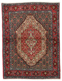 Senneh Rug 122X164 Authentic  Oriental Handknotted Dark Red/Dark Grey (Wool, Persia/Iran)