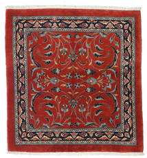 Sarouk Rug 110X116 Authentic  Oriental Handknotted Square Rust Red/Dark Red (Wool, Persia/Iran)