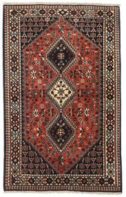 Yalameh Tapis 100X160 D'orient Fait Main Marron Foncé/Rouge Foncé (Laine, Perse/Iran)