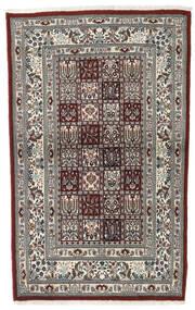 Moud Matta 97X150 Äkta Orientalisk Handknuten Mörkbrun/Beige/Ljusgrå (Ull/Silke, Persien/Iran)