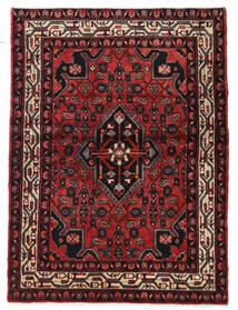 Hosseinabad Rug 102X148 Authentic  Oriental Handknotted Dark Brown/Dark Red (Wool, Persia/Iran)