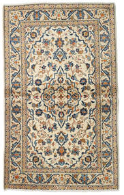 Keshan Rug 99X160 Authentic  Oriental Handknotted Beige/Dark Grey (Wool, Persia/Iran)