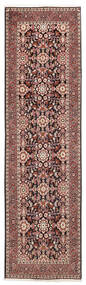 Bidjar Matta 82X292 Äkta Orientalisk Handknuten Hallmatta Mörkröd/Beige (Ull, Persien/Iran)