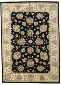 Ziegler Ariana Rug 246X345 Authentic  Oriental Handknotted Black/Light Brown (Wool, Afghanistan)