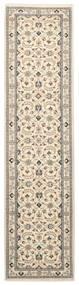 Nain 9La Matto 74X294 Itämainen Käsinsolmittu Käytävämatto Beige/Vaaleanharmaa (Villa/Silkki, Persia/Iran)