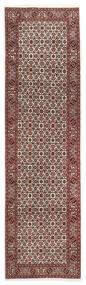 Bidjar Rug 88X298 Authentic  Oriental Handknotted Hallway Runner  Dark Red/Dark Brown (Wool, Persia/Iran)