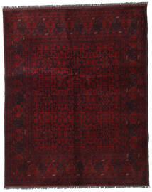アフガン Khal Mohammadi 絨毯 153X188 オリエンタル 手織り 深紅色の (ウール, アフガニスタン)