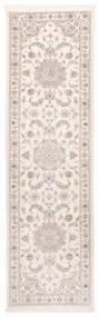 Nain 9La Dywan 83X300 Orientalny Tkany Ręcznie Chodnik Beżowy/Biały/Creme (Wełna/Jedwab, Persja/Iran)