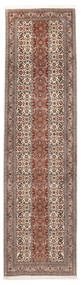 Tabriz 50 Raj Sherkat Farsh Vloerkleed 80X308 Echt Oosters Handgeknoopt Tapijtloper Lichtgrijs/Beige (Wol/Zijde, Perzië/Iran)