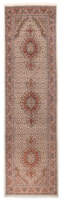 Tabriz 40 Raj Rug 85X310 Authentic  Oriental Handknotted Hallway Runner  Beige/Dark Red (Wool/Silk, Persia/Iran)